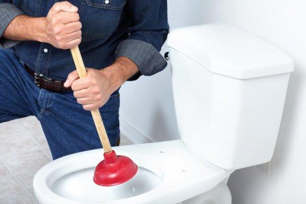 Что делать если забился туалет