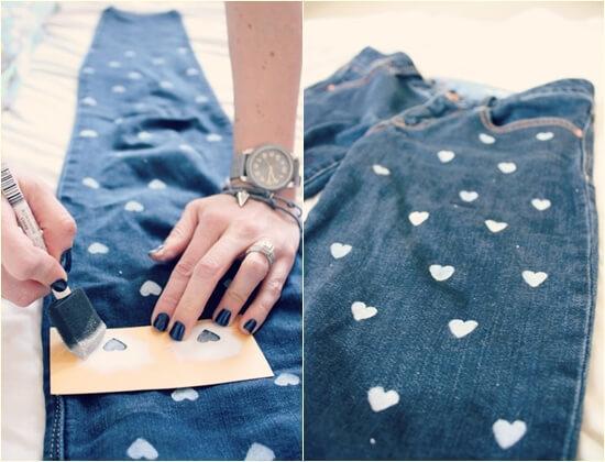 Как покрасить юбку в синий цвет