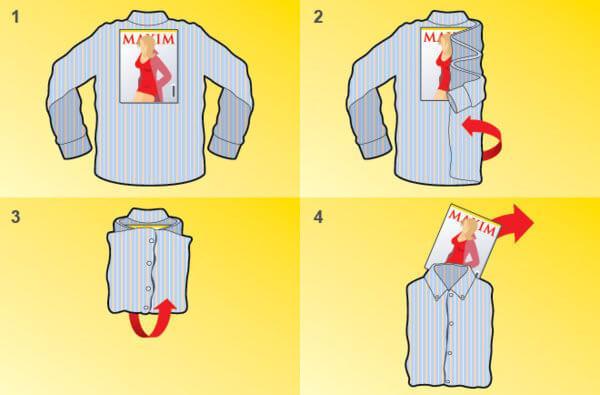 Как правильно сложить рубашку, чтобы она не помялась