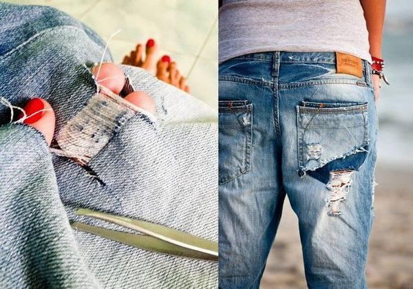Как самому сделать рваные джинсы, как из магазина