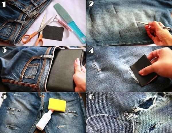 hoznauka_530-e1493104310134-600x462 Как сделать красивые дырки и эффект потертости на джинсах своими руками: фото и видео уроки как можно красиво порвать джинсы в домашних условиях поэтапно и из обычных джинс сделать модные рваные