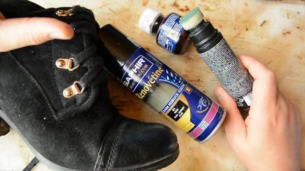 Как покрасить и восстановить цвет замшевой обуви