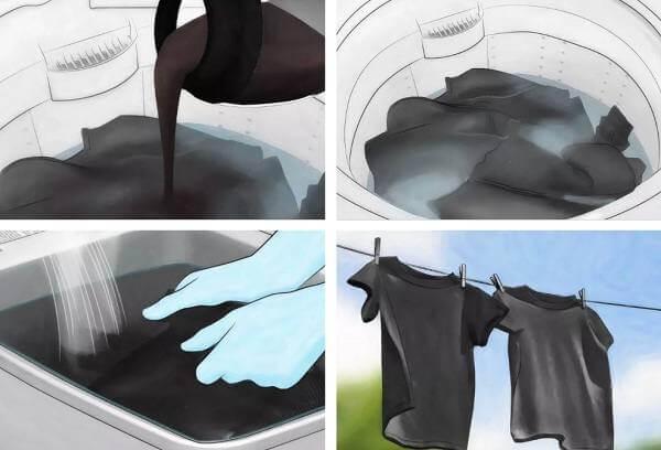 Как восстановить цвет черным вещам
