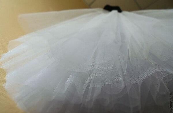 Как накрахмалить юбку из сетки