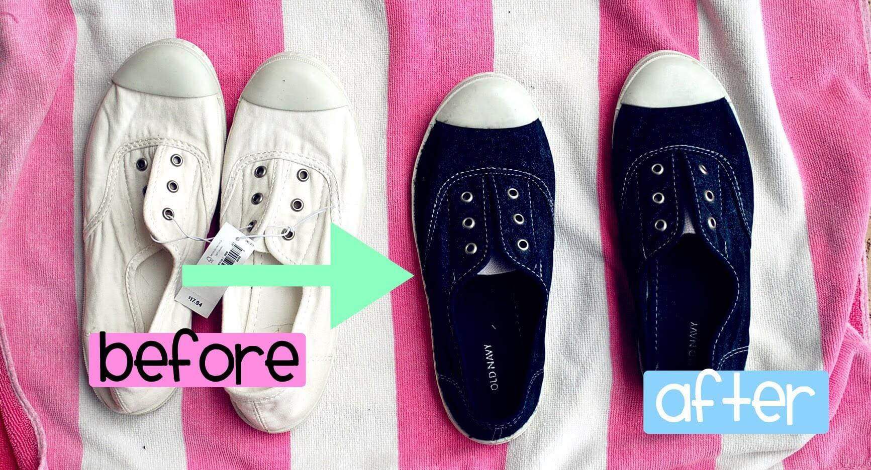 Как креативно покрасить обувь из разных материалов